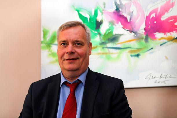 Antti Rinne jakoi visioitaan politiikan toimittajien lounaalla tiistaina.