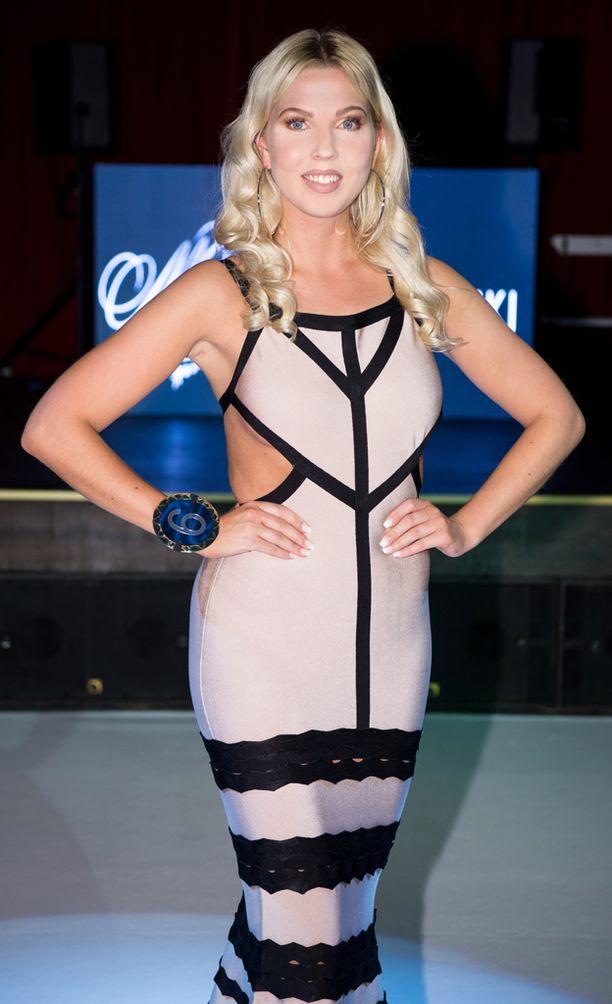Venla Nikulainen oli mukana Miss Helsinki -finaalissa tammikuussa.
