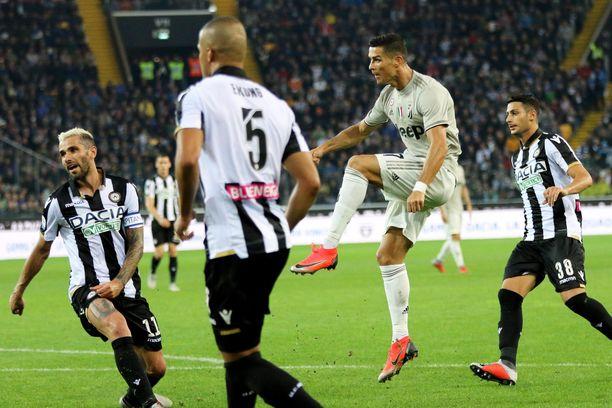 Cristiano Ronaldo onnistui maalinteossa.