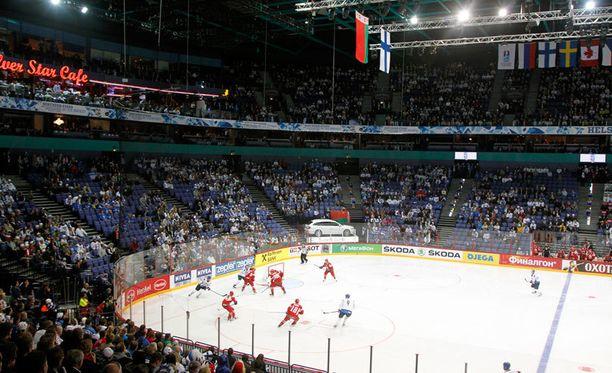 Suomi pelasi Valko-Venäjää vastaan viime vuoden MM-kisoissa Helsingissä.