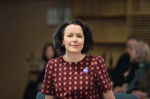 Jenni Haukio oli 5. joulukuutta avatun Oodi-keskustakirjaston avajaisten kunniavieras.