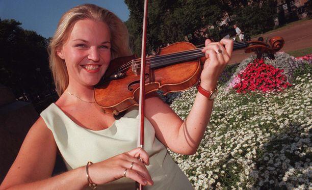 Nuori viulisti vuonna 1996.