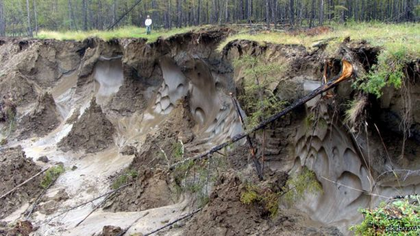 Siperian Jakutiassa ja myös muualla arktisilla alueilla ikirouta sulaa kiihtyvää tahtia.