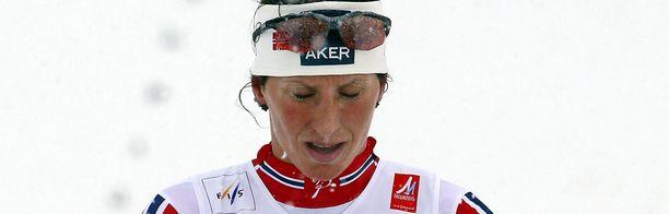 Marit Björgenin tiistai meni lumiseksi.
