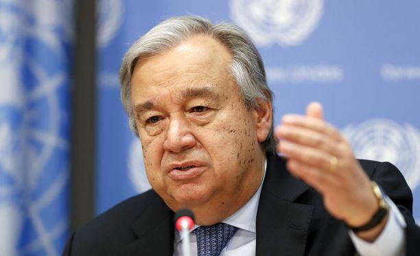 YK:n pääsihteeri Antonio Guterres tuomitsee Pohjois-Korean eilisen ohjuskokeen.