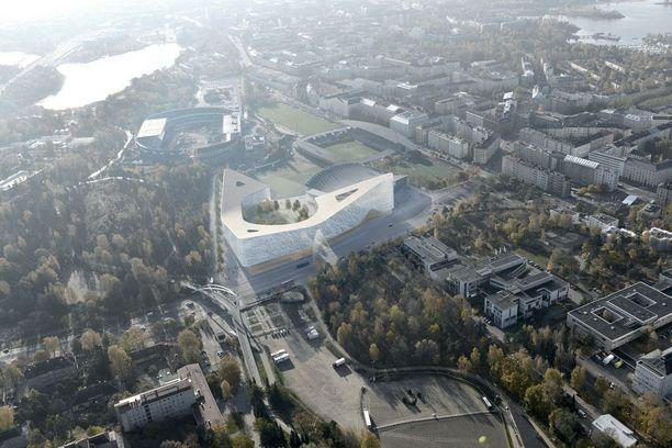 Havainnekuva Helsinki Garden -hankkeesta.