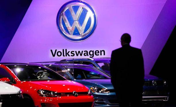 Kuva Volkswagenin näyttelystä New Yorkista.