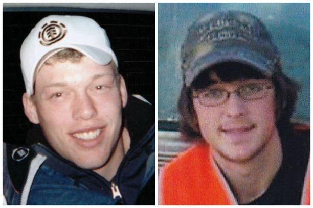 Andy Sandness (vasemmalla) sai Calen Rossin (oikealla) kasvot viime vuonna tehdyssä kasvojensiirtoleikkauksessa.