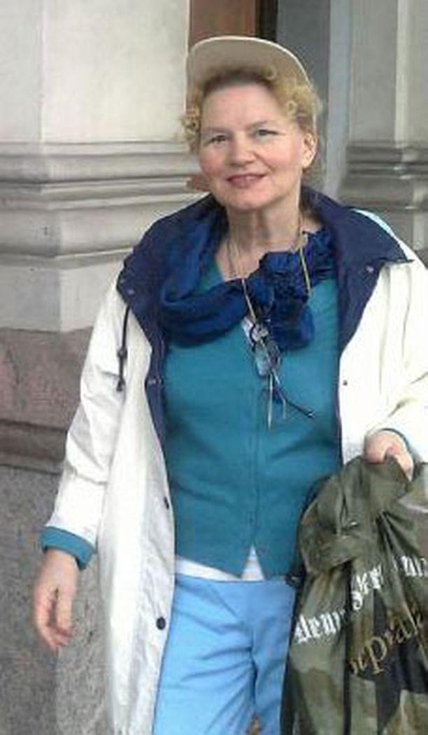 Inka Sainio kävi äänestämässä ennakkoon kaupungintalolla.