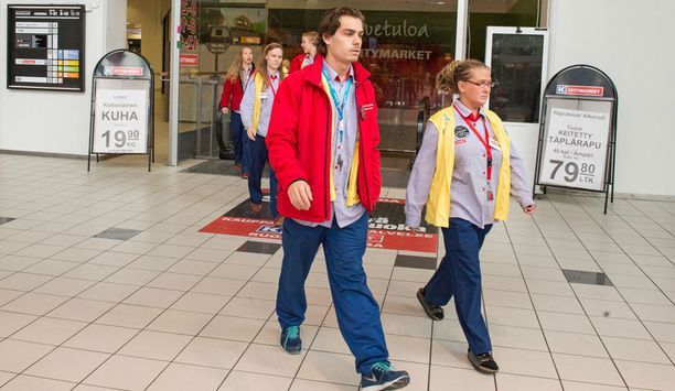 Ruoholahden Citymarketin kaikki työvuorossa olleet työntekijät osallistuivat mielenilmaukseen.