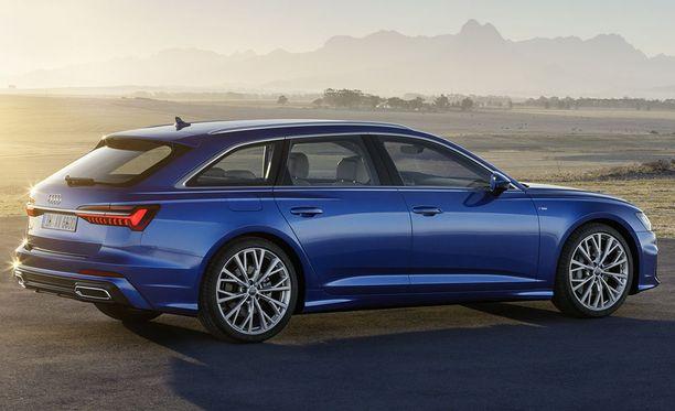 Uusi Audi A6 Avant on 4,94 metriä pitkä, 1,89 metriä leveä ja 1,47 metriä korkea.