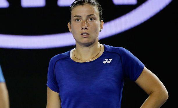 Anastasija Sevastova ilme oli järkyttynyt, kun loukkaantunut katsoja saa ensiapua.