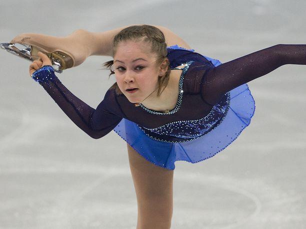 Julija Lipnitskaja voitti olympiakultaa Sotshissa.