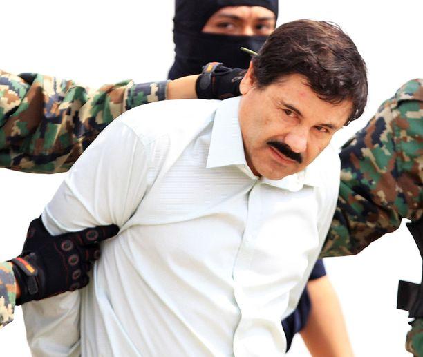 """Meksikolainen huumparoni Joaquin """"El Chapo"""" Guzman, pidätyksensä jälkeen vuonna 2014."""