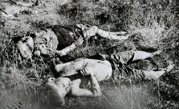 Valtaosa partisaanien uhreista oli lapsia, naisia ja vanhuksia.