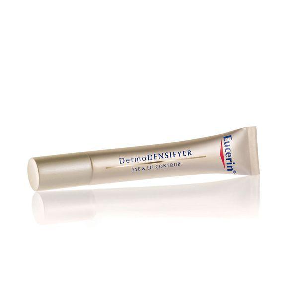 Eucerin DermoDENSIFYER Eye & Lip Contour -voide on suunniteltu käytettäväksi sekä huulilla että silmänympärysiholla, 30,10 e.