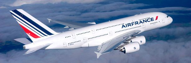 Air Francen Airbus A380 joutui ongelmiin Itämeren yllä. Arkistokuva.