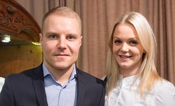 Valtteri Bottas ja Emilia Bottas (o.s. Pikkarainen) avioituivat viime syksynä.
