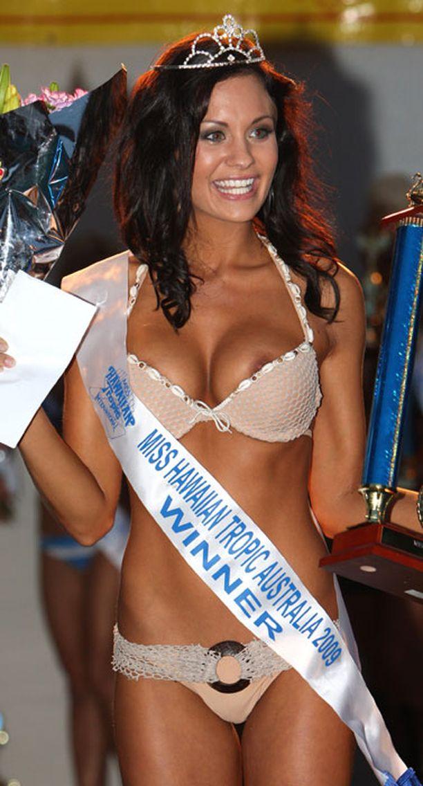 ... Miss Hawaiian Tropic -osakilpailussa vuosi sitten.