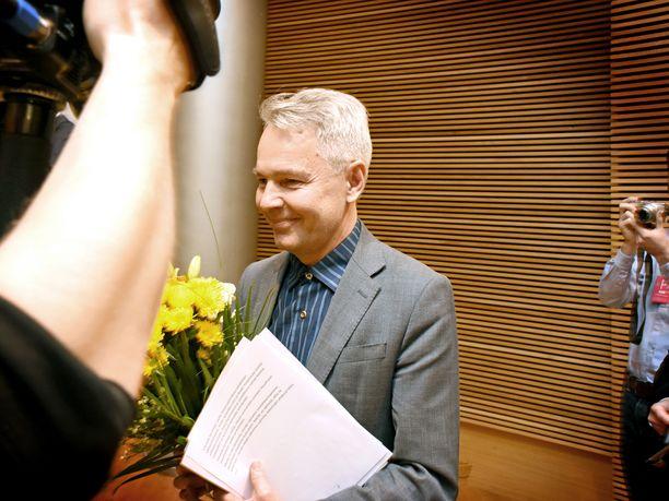 Pekka Haavisto kukitettiin vihreiden pätkäpuheenjohtajaksi viime vuoden marraskuussa.