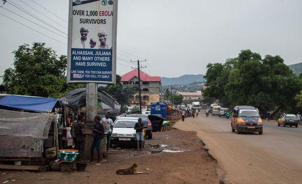 Sierra Leone kärsi ebolaepidemiasta. Kuva otettu viime vuoden lopulla, eli reilu vuosi sen jälkeen, kun maa oli julistettu ebolavapaaksi.