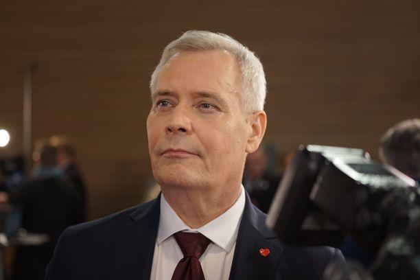 SDP:n puheenjohtaja, pääministeri Antti Rinne.