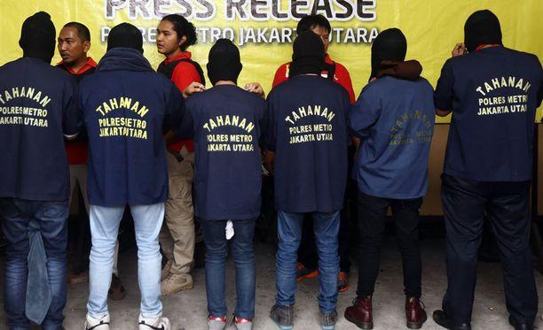 Indonesiassa pidätettyjen joukossa on neljä ulkomaalaista: britti, singaporelainen ja kaksi malesialaista.
