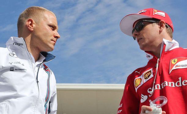 Valtteri Bottas ja Kimi Räikkönen kisaavat F1-kauden avausvoitosta. Kuva viime kaudelta.