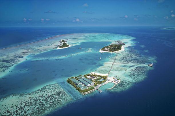 Conrad Maledives Rangali Island -hotelli sijaitsee pienellä atollilla, ja sen asukkaat saavat lomailla kaikessa rauhassa.