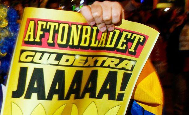 Aftonbladetin toimituksessa innostuttiin Patrik Laineesta. Kuvituskuva.