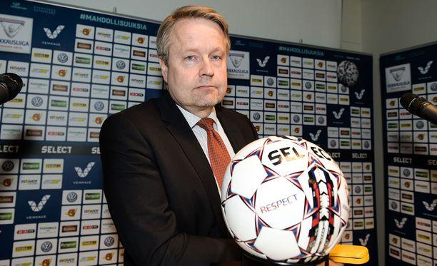 Matti Apunen on Veikkausliigan uusi puheenjohtaja.