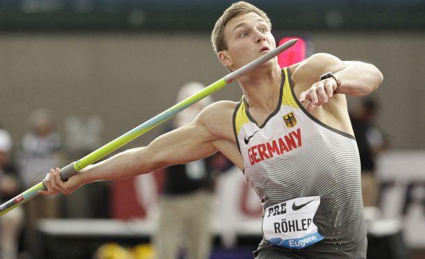 Thomas Röhlerin keihäs lensi Eugenessa 89,88 metriä.