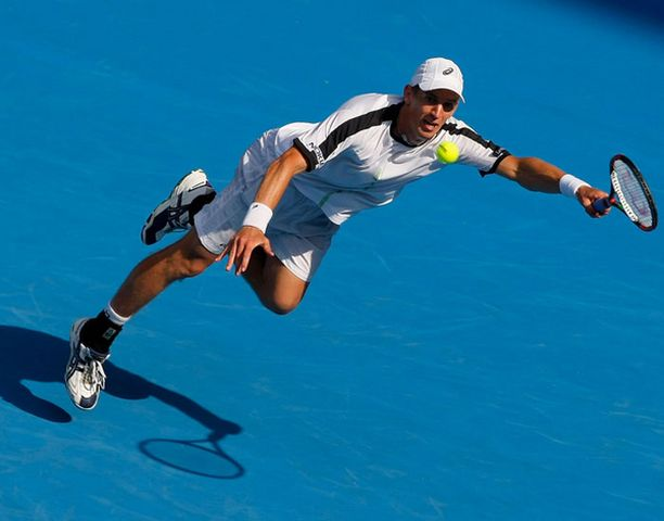Jarkko Nieminen jäi Rafael Nadalia vastaan kyyditettävän rooliin.