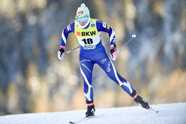 Krista Pärmäkoski oli kuudes Davosin maailmancupin vapaan sprintissä.