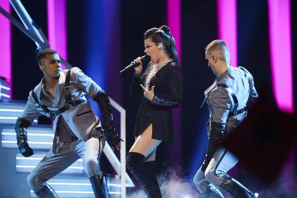 Saara Aalto edusti Suomea Lissabonin Euroviisuissa.