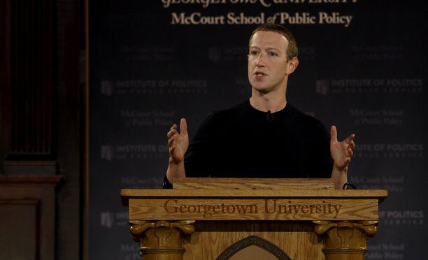 Zuckerberg piti puheen Yhdysvaltain Georgetownissa.