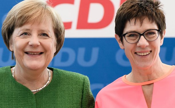 Angela Merkel ja Anngret Kramp-Karrenbauer