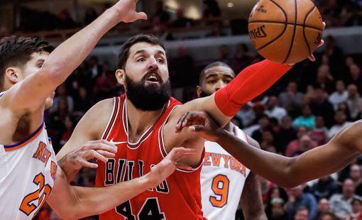 Nikola Mirotic oli Bullsin avainpelaaja itäistä konferenssia johtavan Boston Celticsin nujertamisessa.