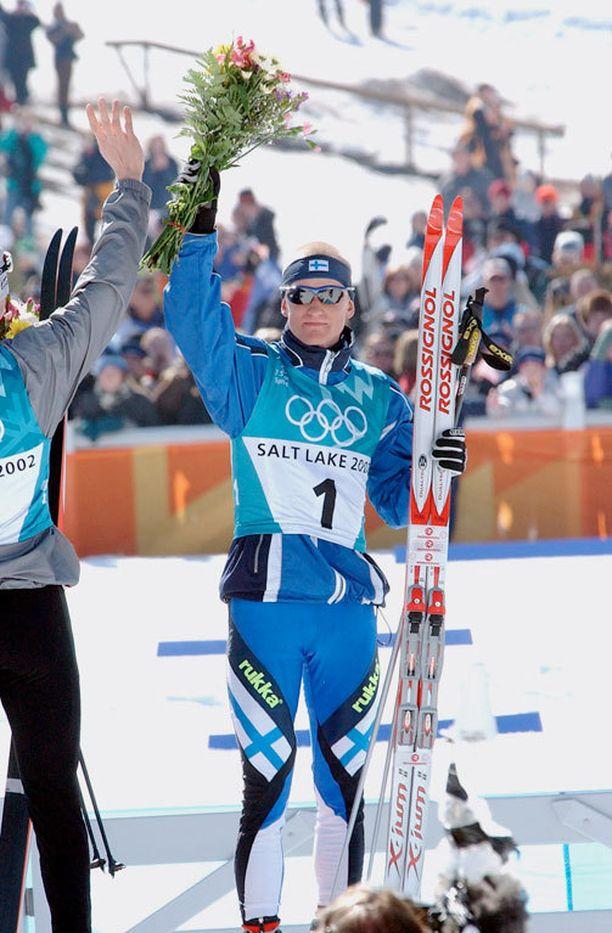 Samppa Lajunen voitti Salt Lake Cityssä vuonna 2002 kolme olympiakultaa.