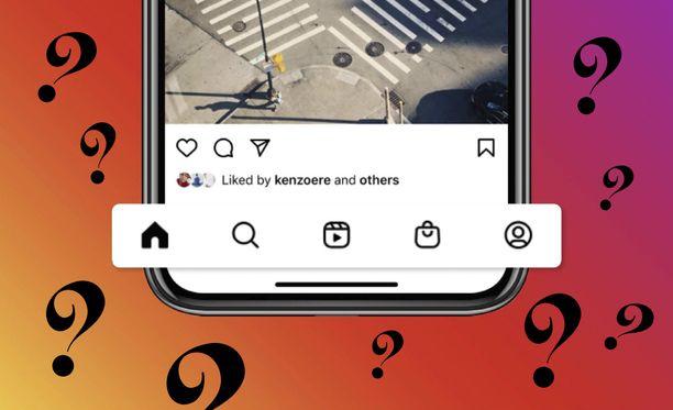 Instagramin alapalkki on mennyt uusiksi.