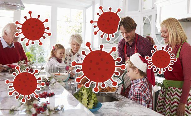 """Tänä vuonna aivan perinteistä joulua ei kannata viettää - siis sellaista, jolloin käy katsomassa kaikki """"kumminkaimansa""""."""