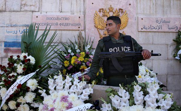 Pommi-iskussa haavoittui kolme poliisia. Arkistokuva.