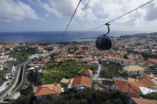 Köysirata on suosittu nähtävyys Funchalissa.
