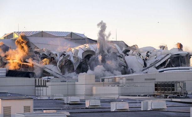Georgia Dome räjäytettiin tänään maan tasalle.
