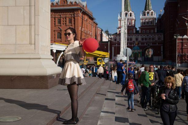 Koko Moskova on valjastettu Voitonpäivän juhliin.