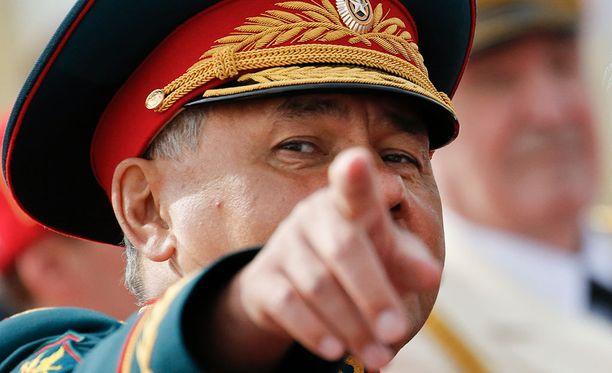 Puolustusministeri Sergei Shoigu lupaa massiivisia harjoituksia.