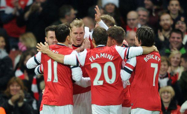 Arsenal puristi keskiviikkona voiton Hullista.