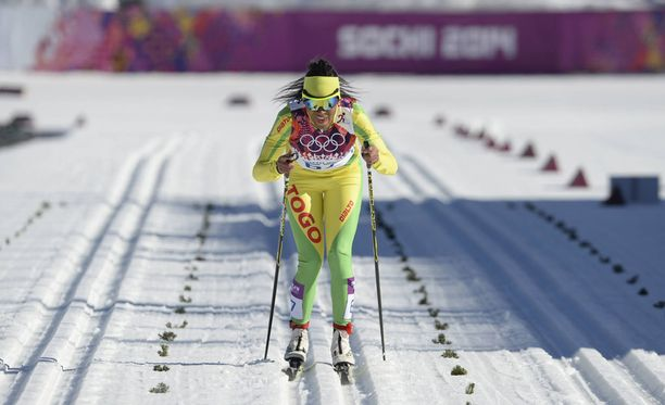 Sotshin naisten 10 km perinteisellä Mathilde-Amivi Petitjean kilpaili olympiahistorian ensimmäisenä togolaisena maastohiihtäjänä.