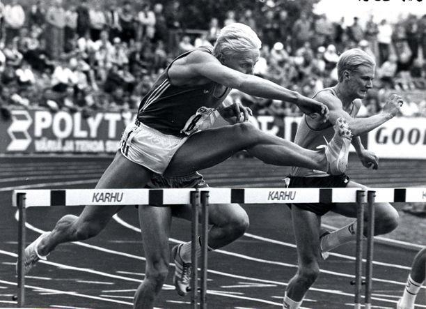 Arto Bryggare voitti urallaan peräti kymmenen kertaa Ruotsi-ottelussa 110 metrin aidat.
