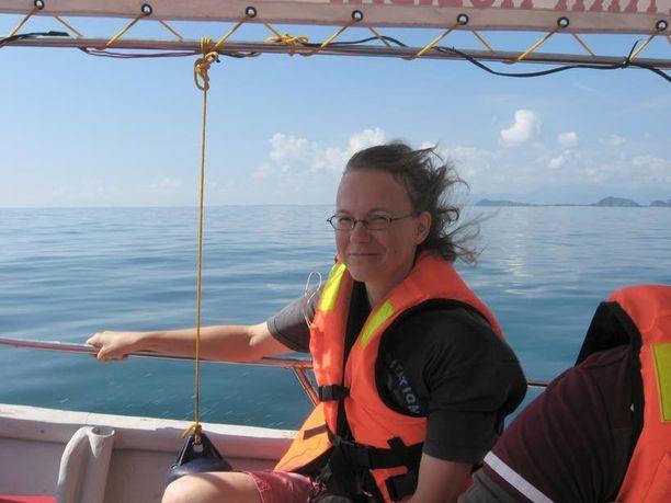 Päivi merellä Malesiassa vuonna 2011.